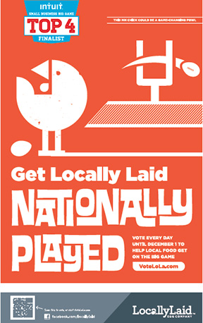 Locally Laid poster